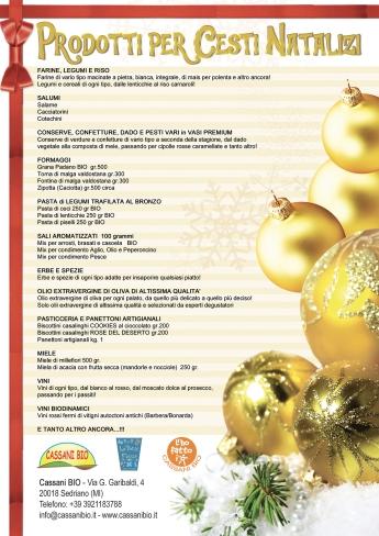 Cesti natalizi prodotti